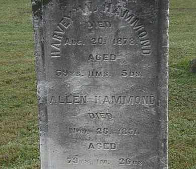 HAMMOND, ALLEN - Erie County, Ohio | ALLEN HAMMOND - Ohio Gravestone Photos
