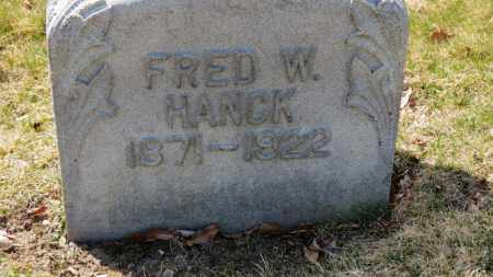 HANCK, FRED W. - Erie County, Ohio | FRED W. HANCK - Ohio Gravestone Photos