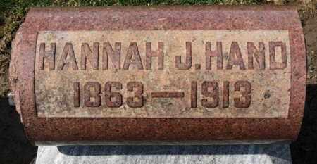 HAND, HANNAH J. - Erie County, Ohio | HANNAH J. HAND - Ohio Gravestone Photos
