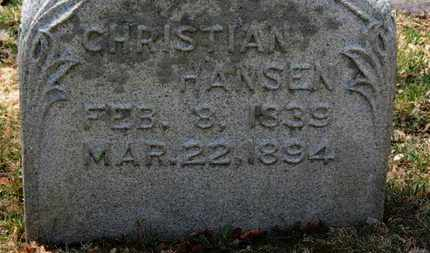 HANSEN, CHRISTIAN - Erie County, Ohio | CHRISTIAN HANSEN - Ohio Gravestone Photos