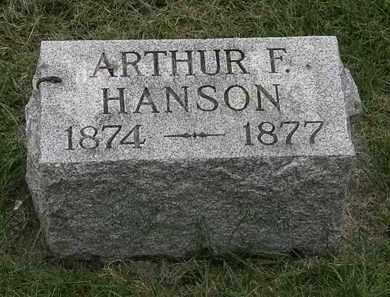 HANSON, ARTHUR F. - Erie County, Ohio | ARTHUR F. HANSON - Ohio Gravestone Photos
