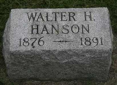 HANSON, WALTER H. - Erie County, Ohio | WALTER H. HANSON - Ohio Gravestone Photos