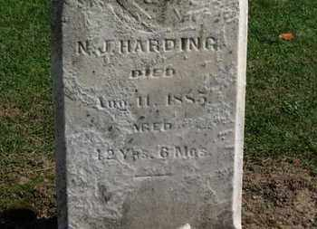 HARDING, N.J. - Erie County, Ohio | N.J. HARDING - Ohio Gravestone Photos