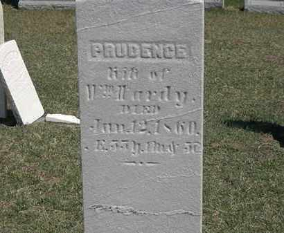 HARDY, PRUDENCE - Erie County, Ohio | PRUDENCE HARDY - Ohio Gravestone Photos