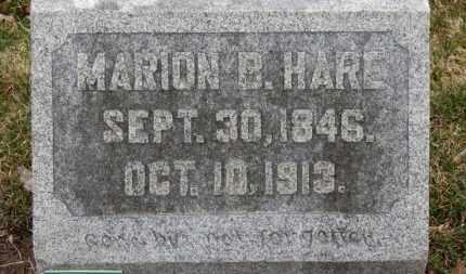 HARE, MARION B. - Erie County, Ohio | MARION B. HARE - Ohio Gravestone Photos
