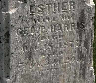 HARRIS, ESTHER - Erie County, Ohio | ESTHER HARRIS - Ohio Gravestone Photos
