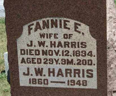 HARRIS, FANNIE E. - Erie County, Ohio | FANNIE E. HARRIS - Ohio Gravestone Photos