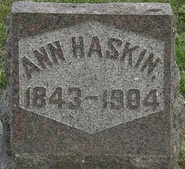 HASKIN, ANN - Erie County, Ohio | ANN HASKIN - Ohio Gravestone Photos