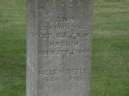 HASKINS, ANN - Erie County, Ohio | ANN HASKINS - Ohio Gravestone Photos