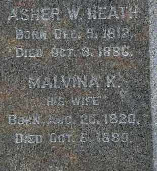 HEATH, MALVINA K. - Erie County, Ohio | MALVINA K. HEATH - Ohio Gravestone Photos