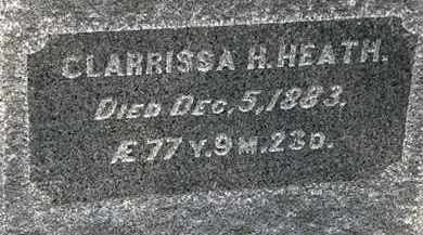 HEATH, CLARISSA H. - Erie County, Ohio | CLARISSA H. HEATH - Ohio Gravestone Photos