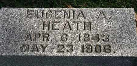 HEATH, EUGENIA A. - Erie County, Ohio | EUGENIA A. HEATH - Ohio Gravestone Photos
