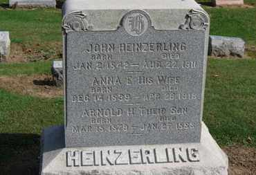 HEINZERLING, JOHN - Erie County, Ohio | JOHN HEINZERLING - Ohio Gravestone Photos