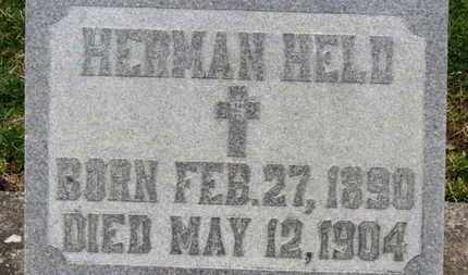 HELD, HERMAN - Erie County, Ohio | HERMAN HELD - Ohio Gravestone Photos