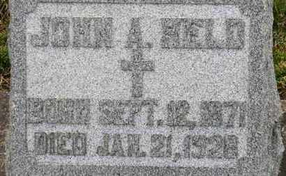 HELD, JOHN A. - Erie County, Ohio | JOHN A. HELD - Ohio Gravestone Photos