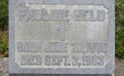 HELD, PAULINE - Erie County, Ohio | PAULINE HELD - Ohio Gravestone Photos