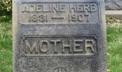 HERB, ADELINE - Erie County, Ohio | ADELINE HERB - Ohio Gravestone Photos