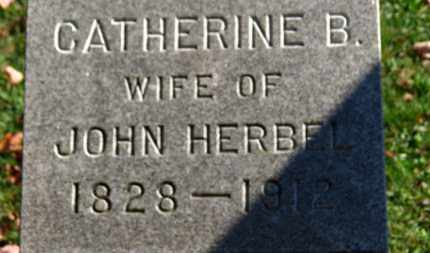 HERBEL, CATHERINE B. - Erie County, Ohio | CATHERINE B. HERBEL - Ohio Gravestone Photos