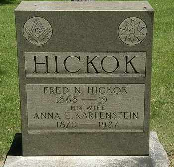 KARPENSTEIN HICKOK, ANNA E. - Erie County, Ohio | ANNA E. KARPENSTEIN HICKOK - Ohio Gravestone Photos