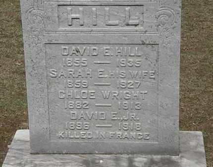 HILL, DAVID E. - Erie County, Ohio | DAVID E. HILL - Ohio Gravestone Photos