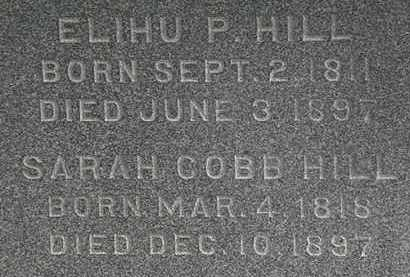 COBB HILL, SARAH - Erie County, Ohio | SARAH COBB HILL - Ohio Gravestone Photos