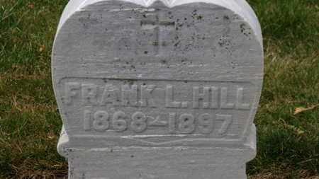 HILL, FRANK L. - Erie County, Ohio | FRANK L. HILL - Ohio Gravestone Photos