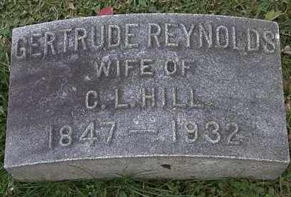 REYNOLDS HILL, GERTRUDE - Erie County, Ohio | GERTRUDE REYNOLDS HILL - Ohio Gravestone Photos