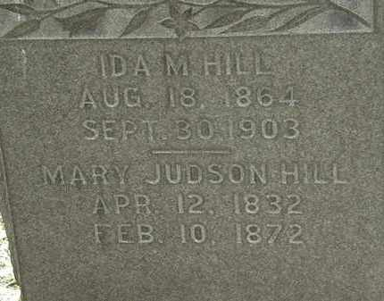 HILL, MARY JUDSON - Erie County, Ohio | MARY JUDSON HILL - Ohio Gravestone Photos