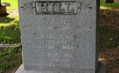 KEMP HILL, ELIZABETH - Erie County, Ohio | ELIZABETH KEMP HILL - Ohio Gravestone Photos