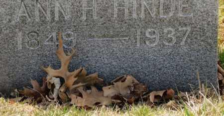 HINDE, ANN H. - Erie County, Ohio | ANN H. HINDE - Ohio Gravestone Photos
