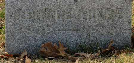HINDE, GEORGE - Erie County, Ohio | GEORGE HINDE - Ohio Gravestone Photos