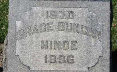 DUNCAN HINDE, GRACE - Erie County, Ohio | GRACE DUNCAN HINDE - Ohio Gravestone Photos