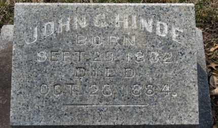 HINDE, JOHN  G. - Erie County, Ohio | JOHN  G. HINDE - Ohio Gravestone Photos