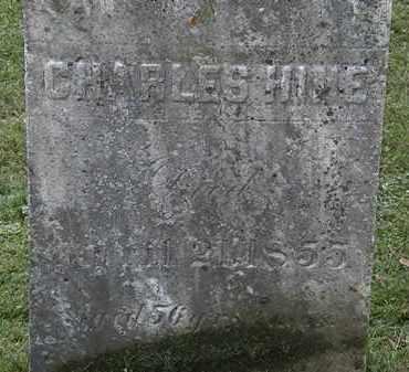 HINE, CHARLES - Erie County, Ohio | CHARLES HINE - Ohio Gravestone Photos
