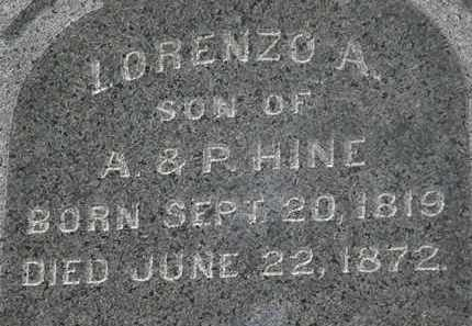 HINE, LORENZO A. - Erie County, Ohio | LORENZO A. HINE - Ohio Gravestone Photos