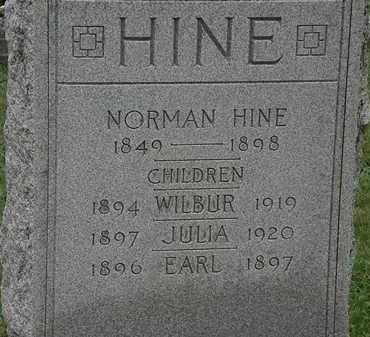HINE, WILBUR - Erie County, Ohio | WILBUR HINE - Ohio Gravestone Photos