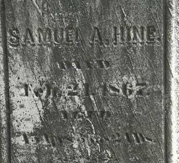HINE, SAMUEL A. - Erie County, Ohio | SAMUEL A. HINE - Ohio Gravestone Photos
