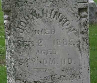 HINTON, JOHN - Erie County, Ohio | JOHN HINTON - Ohio Gravestone Photos