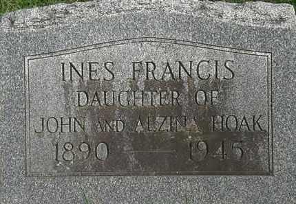 HOAK, INES FRANCIS - Erie County, Ohio | INES FRANCIS HOAK - Ohio Gravestone Photos