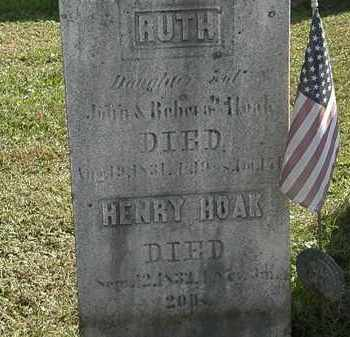 HOAK, JOHN - Erie County, Ohio | JOHN HOAK - Ohio Gravestone Photos