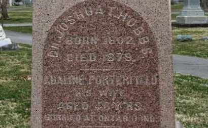 PORTERFIELD HOBBS, ADALINE - Erie County, Ohio | ADALINE PORTERFIELD HOBBS - Ohio Gravestone Photos