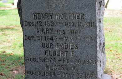 HOFFNER, ALBERT A. - Erie County, Ohio | ALBERT A. HOFFNER - Ohio Gravestone Photos