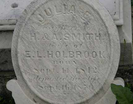 HOLBROOK, JULIA E. - Erie County, Ohio | JULIA E. HOLBROOK - Ohio Gravestone Photos