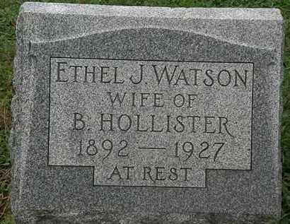 WATSON HOLLISTER, ETHEL J. - Erie County, Ohio | ETHEL J. WATSON HOLLISTER - Ohio Gravestone Photos