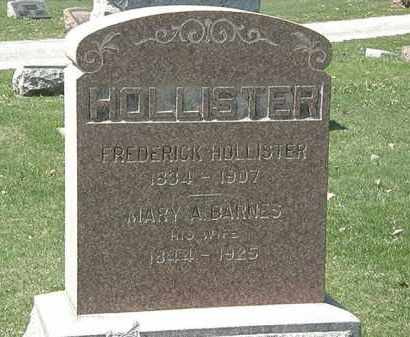BARNES HOLLISTER, MARY A. - Erie County, Ohio | MARY A. BARNES HOLLISTER - Ohio Gravestone Photos