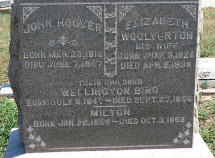 HOOVER, ELIZABETH - Erie County, Ohio | ELIZABETH HOOVER - Ohio Gravestone Photos