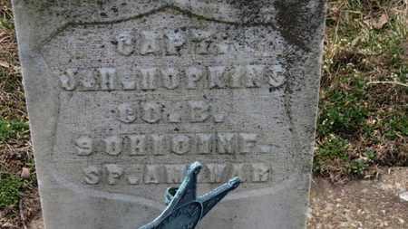 HOPKINS, J.H. CAPT. - Erie County, Ohio   J.H. CAPT. HOPKINS - Ohio Gravestone Photos