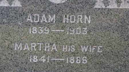 HORN, MARTHA - Erie County, Ohio | MARTHA HORN - Ohio Gravestone Photos