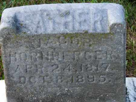 HORNBERGER, JACOB - Erie County, Ohio | JACOB HORNBERGER - Ohio Gravestone Photos