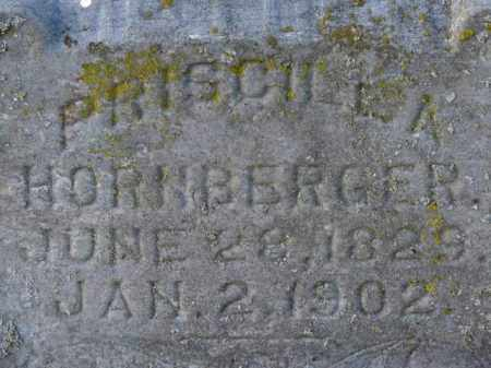 HORNBERGER, PRISCILLA - Erie County, Ohio | PRISCILLA HORNBERGER - Ohio Gravestone Photos